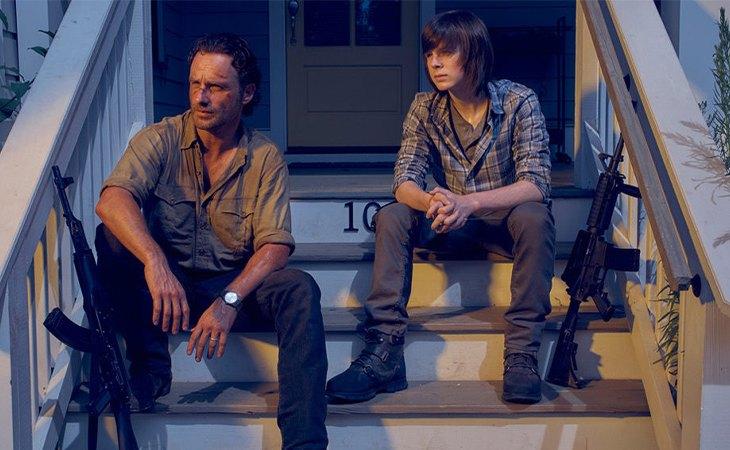 Rick y Carl en la serie de televisión de 'The Walking Dead'