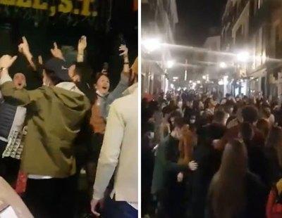 Indignante fiesta multitudinaria en pleno centro de Madrid tras el toque de queda