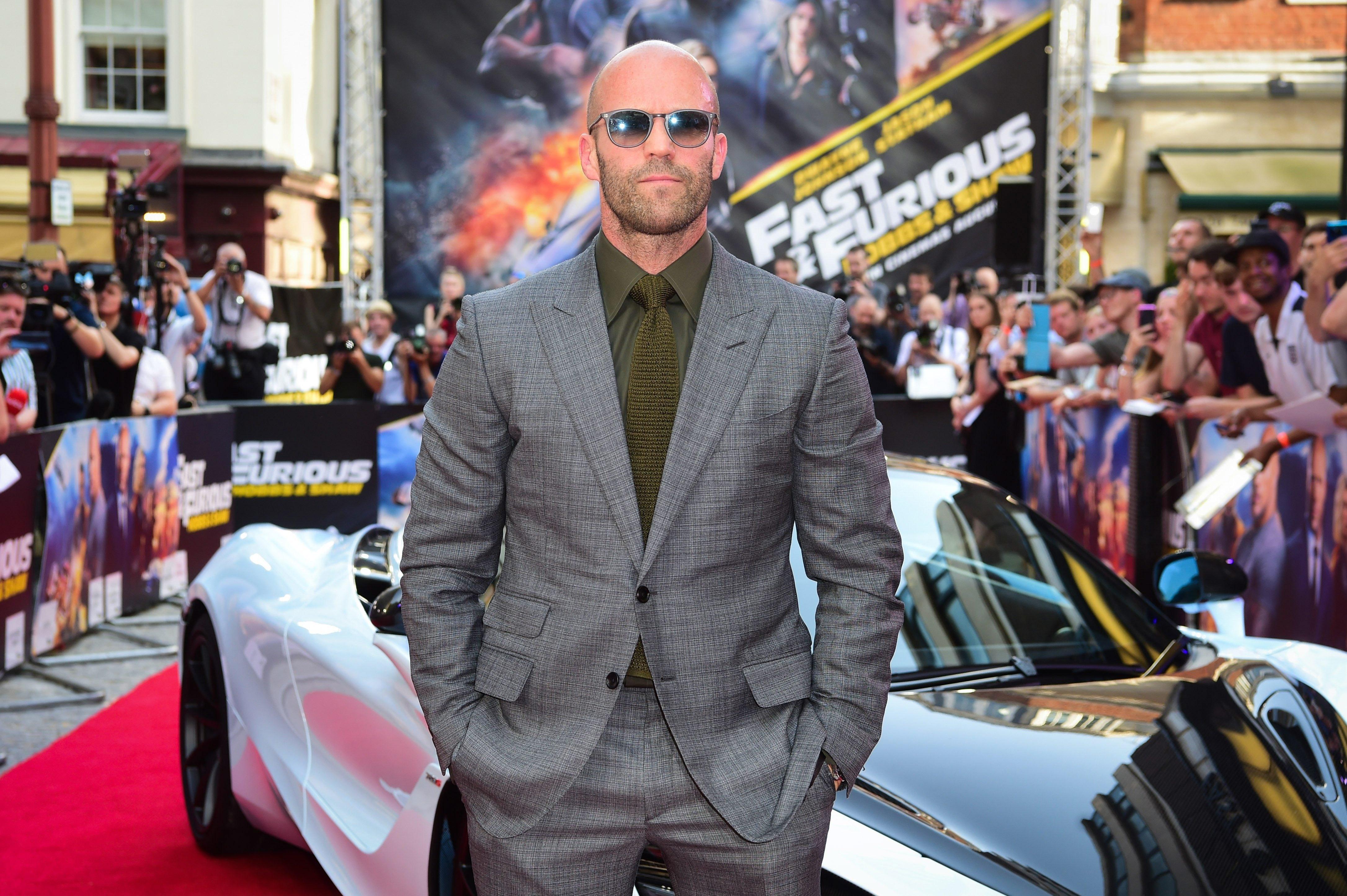 Jason Statham en una premiere