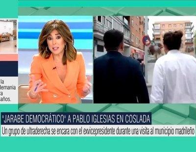 """'El programa de Ana Rosa' llama """"jarabe democrático"""" al ataque fascista contra Iglesias"""