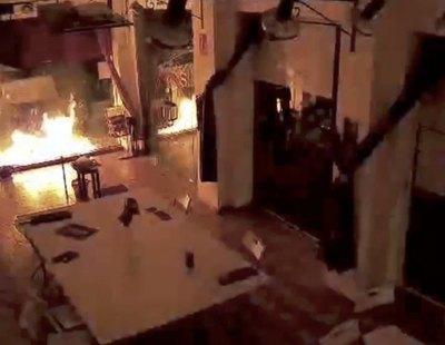 Atacan e incendian la sede de Podemos en Cartagena con un cóctel molotov