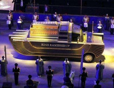 El espectacular desfile en Egipto del traslado de momias reales hasta el nuevo museo de El Cairo