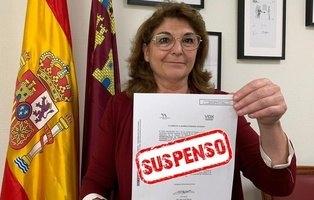 Docentes corrigen las faltas de la consejera de Educación de Murcia, de VOX: suspende