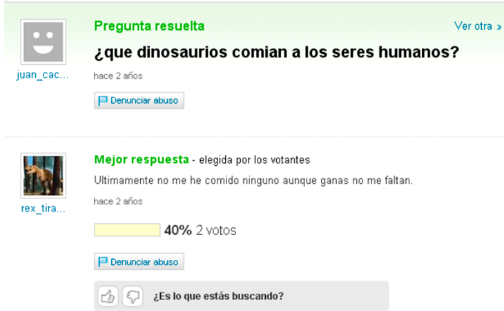 T-Rex tiene la respuesta