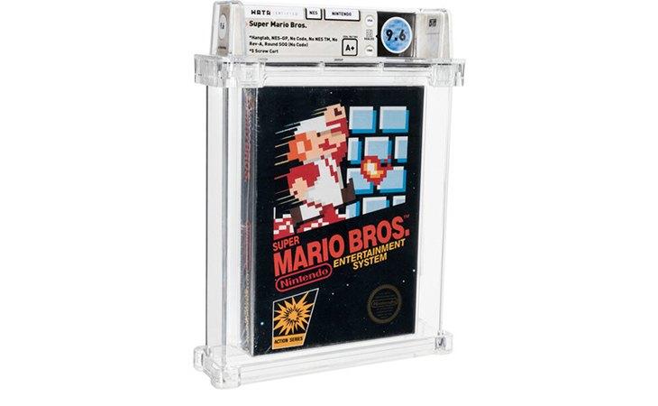 El videojuego de 'Super Mario Bros' de 1985 aún estaba en su embalaje original