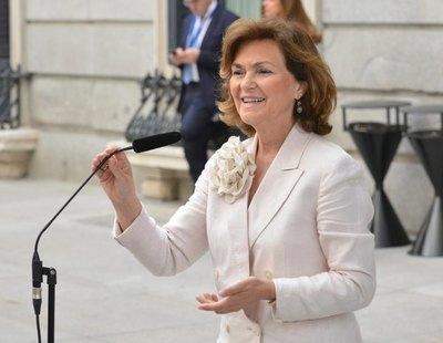 8.547 euros en la tarjeta de gastos protocolarios de Carmen Calvo: Mercadona, El Corte Inglés y restaurantes