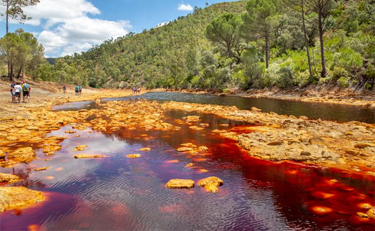 Parque minero de Riotinto en Huelva