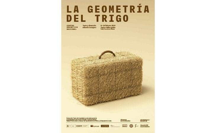 Cartel de 'La geometría del trigo'