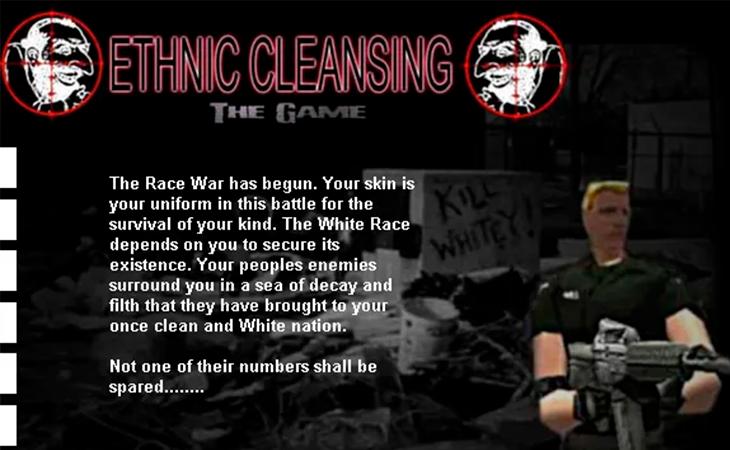 'Ethnic Cleansing', entre los videojuegos más polémicos de la historia