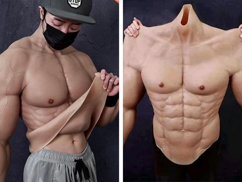 Arrasa en ventas un body hiperrealista que que hace lucir musculosos a los hombres