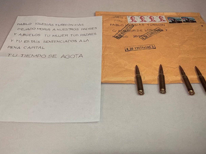 Iglesias, Marlaska y la Jefa de la Guardia Civil reciben cartas con amenazas de muerte