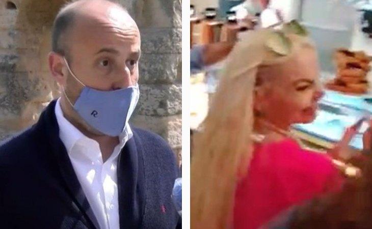 Rubén Morales, ex coordinador de Ciudadanos en Soria; y Leticia Sabater en un fotograma del vídeo de la fiesta ilegal