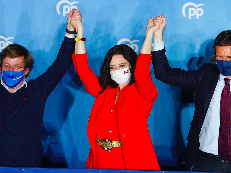 Ayuso gana las elecciones y Más Madrid supera al PSOE en votos