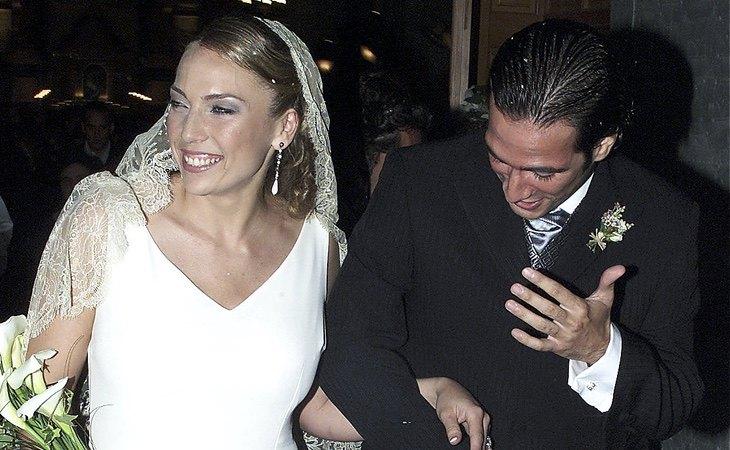Sabrina y Ángel, durante su boda
