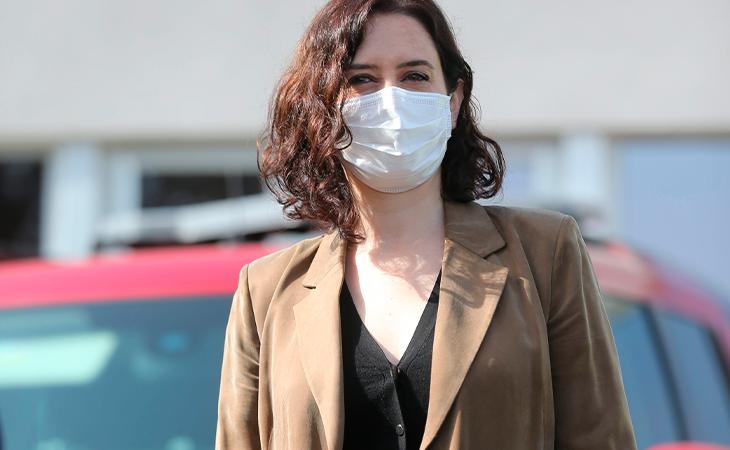 Isabel Díaz Ayuso en un acto en la ASEM en marzo de 2021