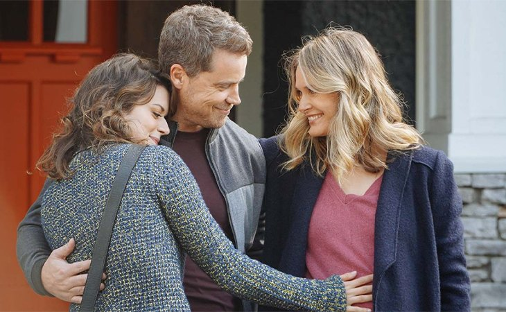 Rachel Blanchard, Greg Poehler and Priscilla Faia in 'You, Me and Her'
