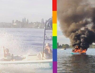 Los insultan y acosan por llevar la bandera LGTBI y acaban salvándoles la vida en un lago