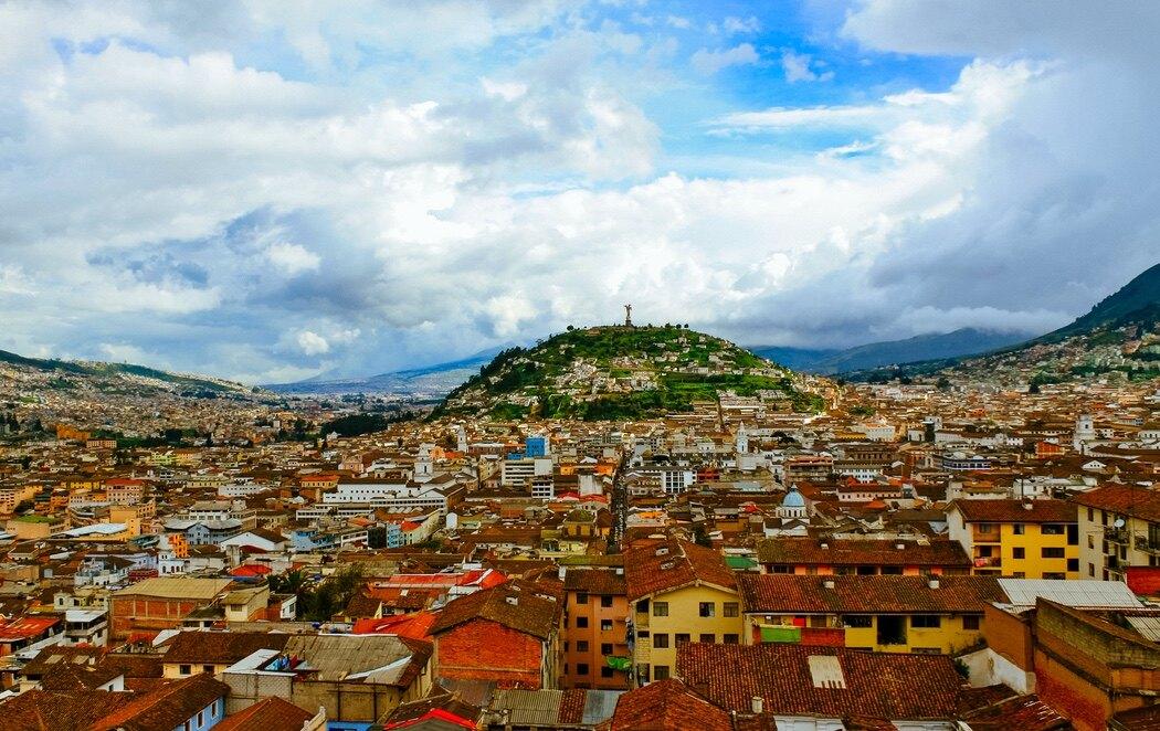 Vista aérea de Quito