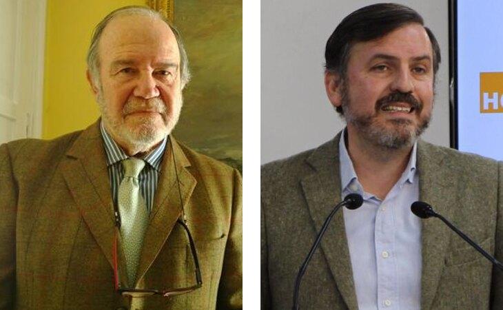 Juan Chicharro Ortega, presidente de la Fundación Francisco Franco; e Ignacio Arsuaga, presidente de Hazte Oír