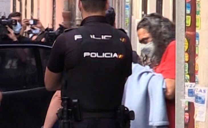 Diego 'El Cigala' en el momento de su detención