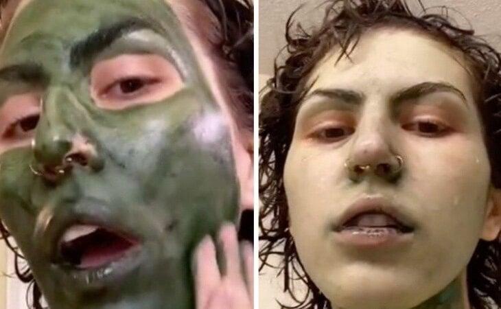 La joven se quedó verde