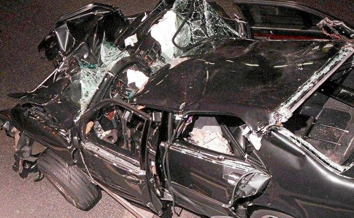 El coche en el que viajaba Lady Di, tras el accidente