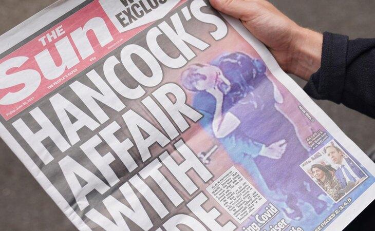 The Sun llevó a portada la aventura del ministro de Sanidad británico