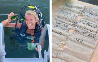Encuentra en el mar un mensaje en una botella de hace 95 años y localiza a la hija de quien lo escribió