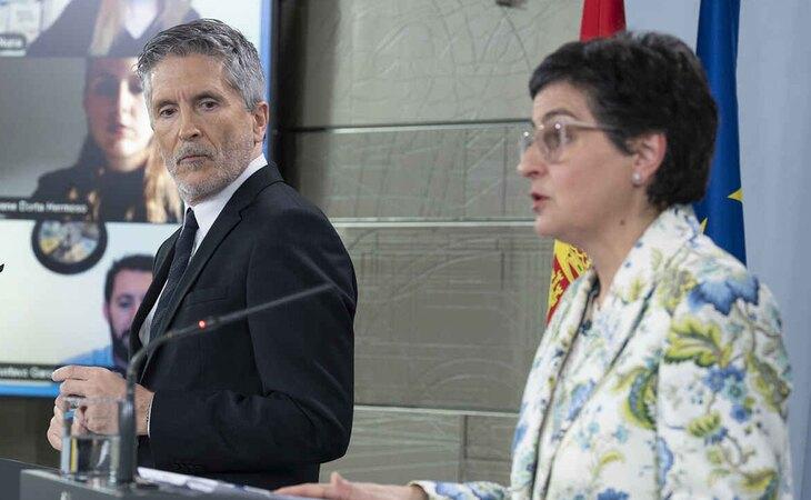 Fernando Grande Marlaska y Arancha González Laya podrían ser algunos de los que perjudicados en la reforma del Gobierno