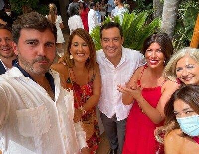 Moreno Bonilla, dando ejemplo: en una boda sin mascarilla y sin cumplir las medidas de seguridad