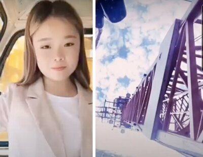 Una influencer capta su propia muerte al caer 48 metros desde una grúa mientras grababa un vídeo