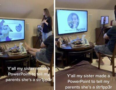 Usa una presentación de PowerPoint para confesar a sus padres que es stripper