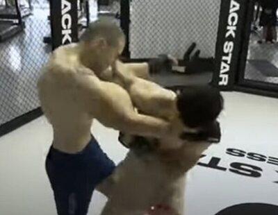 El 'Popeye ruso' sufre una grave lesión: se le revientan los músculos durante un combate de artes marciales