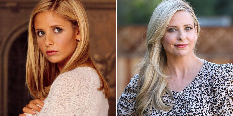 Sarah Michelle Gellar como Buffy y en la actualidad