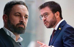 """Santiago Abascal, que dice que VOX no incita a la violencia, pide """"abofetear"""" a Pere Aragonés"""