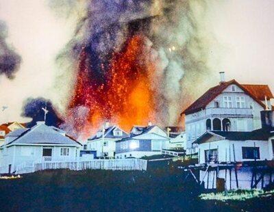 Así detuvieron los islandeses la lava del volcán Eldfell con agua de mar en 1973