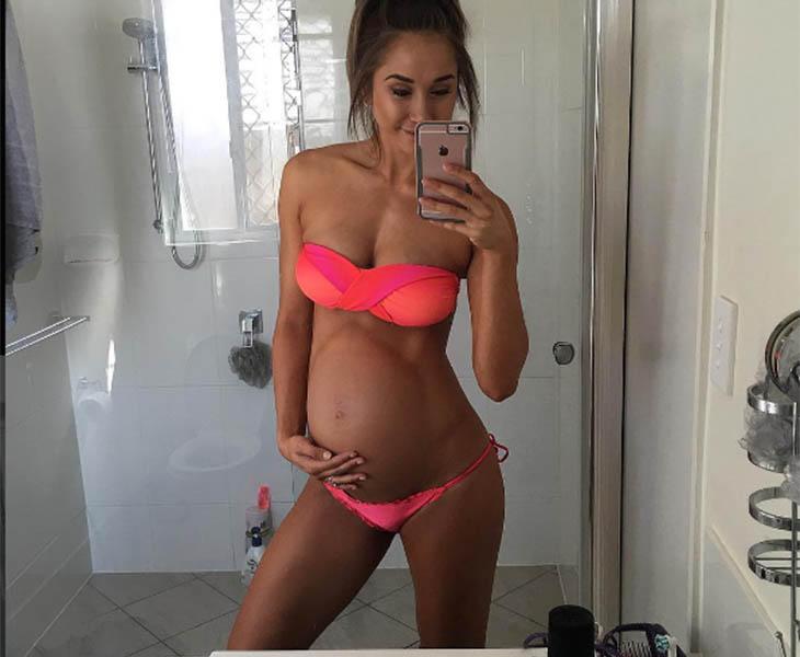 Chontel, en su semana 39 de embarazo