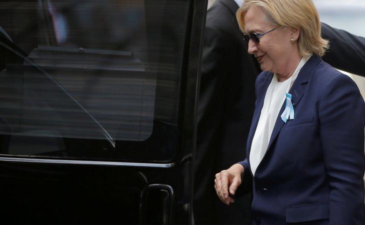 Hillary Clinton se desmayó en el acto de conmemoración a las víctimas del 11S