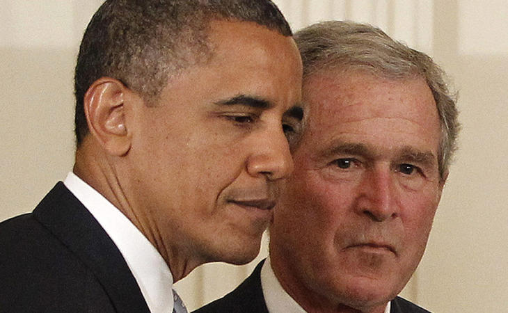 Obama y su antecesor, George W. Bush