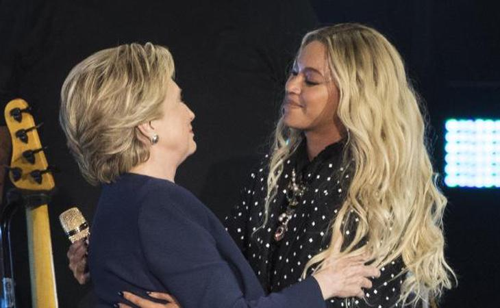Beyoncé invitó a Hillary Clinton a un concierto