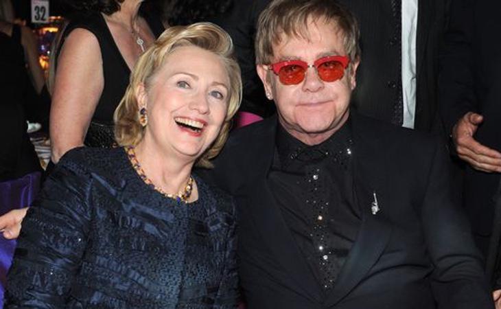 Elton John ayudó a recaudar 4 millones de dólares a la campaña de Hillary