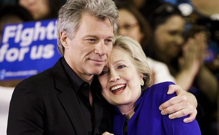 Jon Bon Jovi es amigo de Hillary Clinton