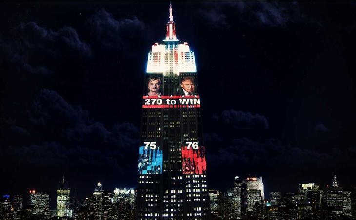 El Empire State durante las elecciones