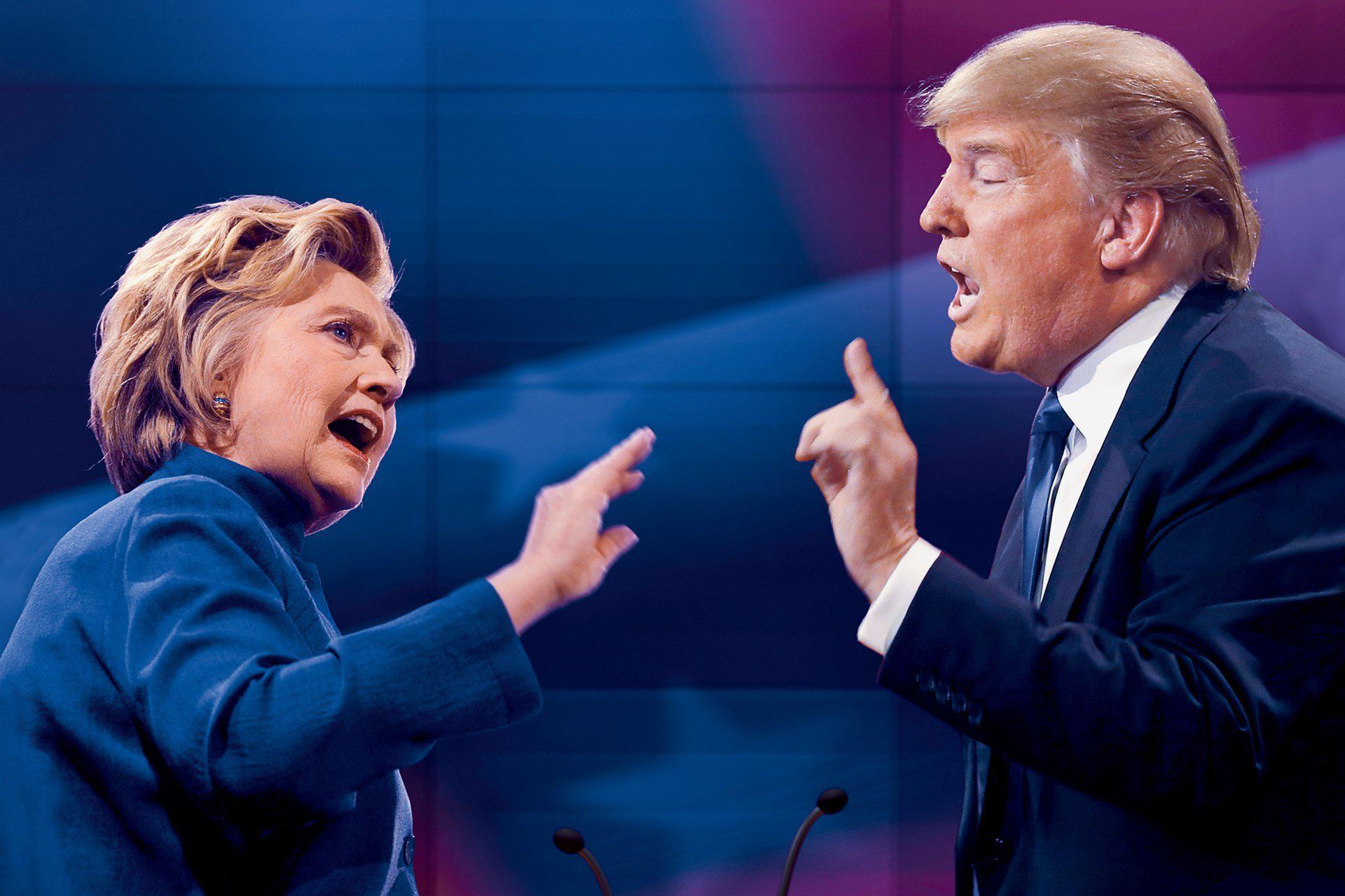 Debate presidencial entre Clinton y Trump