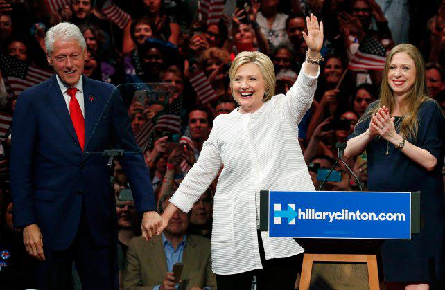 La familia Clinton