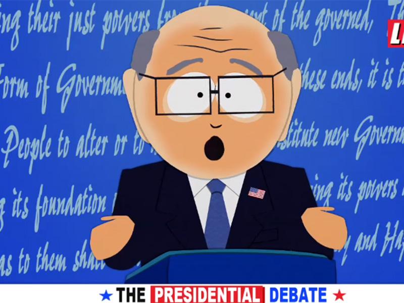 Trump parodiado como un personaje de 'South Park'