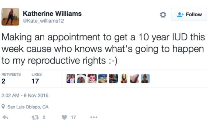 Pidiendo cita para ponerme un DIU esta semana, porque quién sabe qué va a pasar con mis derechos reproductivos