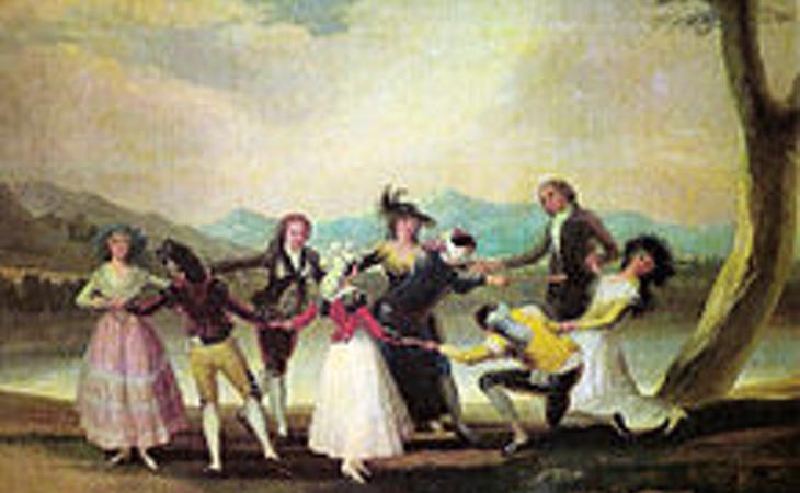 Incluso en tiempos de Goya se jugaba a la gallinita ciega