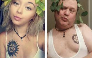 Un padre imita los 'sexy selfies' de su hija para regañarla y gana más seguidores que ella