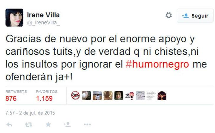 Irene Villa afirmó no sentirse humillada